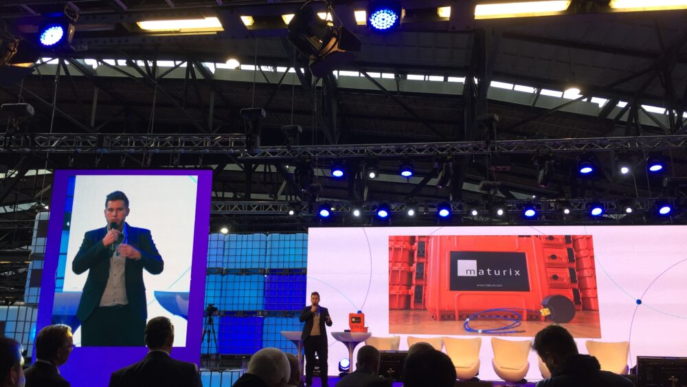 Maturix on stage at Sigfox Connect 2018